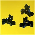 Complex micro molded star wheel components.